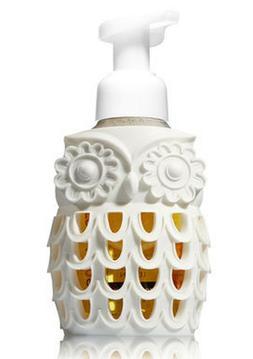 1 Bath Body Works White OWL RESIN Foaming Deep Cleansing Gel