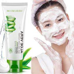 100g Repair Cleansing Foam Aloe Vera Facial Cleanser Face Wa