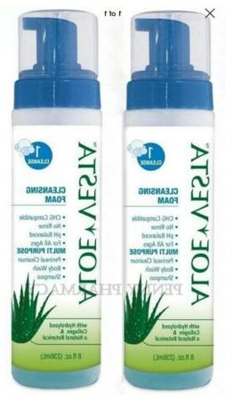 2 Pack - Aloe Vesta Cleansing Foam - PH Balanced - Multi Pur