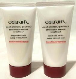 2 x Shiseido Clarifying Deep Cleansing Foam 1.8 oz  each. Al