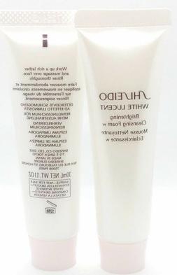 2 x Shiseido White Lucent Brightening Cleansing Foam 1.1oz/