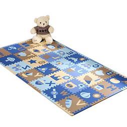 28 Pieces of Waterproof Children Foam Mats Baby Foam Puzzle