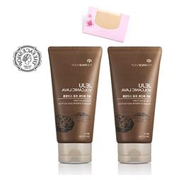 The Face Shop Jeju Volcanic Lava Pore Scrub Foam , SoltreeBu