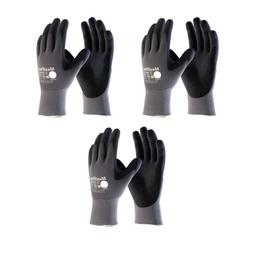Maxiflex 34-874 Ultimate Nitrile Grip Work Gloves, Large, 3