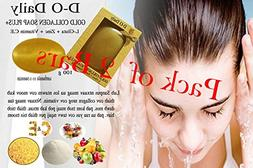 Pack of 2 Bars D-O Daily Whitening Pure Skincare Facial Gold