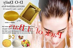 Pack of 4 Bars D-O Daily Whitening Pure Skincare Facial Gold