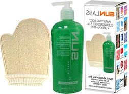 Sun Laboratories - Loofah Sponge Mitt with Exfoliant Body Ge
