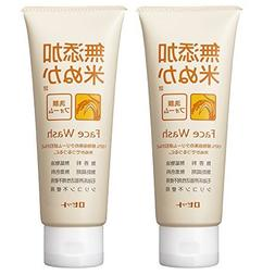 Rosette additive-free rice bran cleansing foam 140g ~ 2-pack