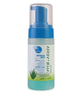 Aloe Vesta Cleansing Foam, 4 oz. Bottle, no-rinse, pH-balanc