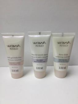 Avon, Anew , Scrub,cleanser Mask, Cleansing Foam Set