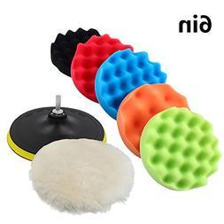 Yosoo Buffing Pads Polishing Pads, 7 Pcs Waxing Sponge Pads