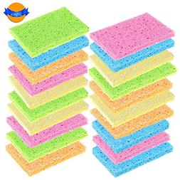 LOCOLO 20 Pack Cleaning Scrub Sponge Assorted Colors High Fo