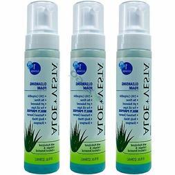 Aloe Vesta Cleansing Foam 8 oz Bottle - Pack of 3 Bottles