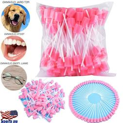 100pcs Disposable Unflavored Oral Sponge Swabs Tooth Cleanin