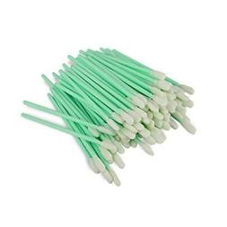 Zetek 100pcs Foam Tip Cleaning Swabs Sponge Stick for Inkjet