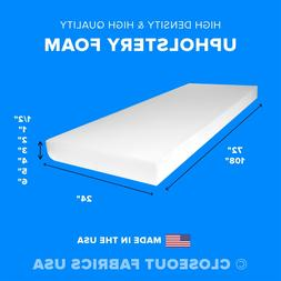 """High Density Upholstery Foam Seat Cushion Replacement - 24"""""""