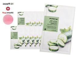 Joyful Time Essence Mask Sheet - Cucumber + Silicone Puff