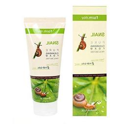 korean pure snail foam cleanser 180ml 6