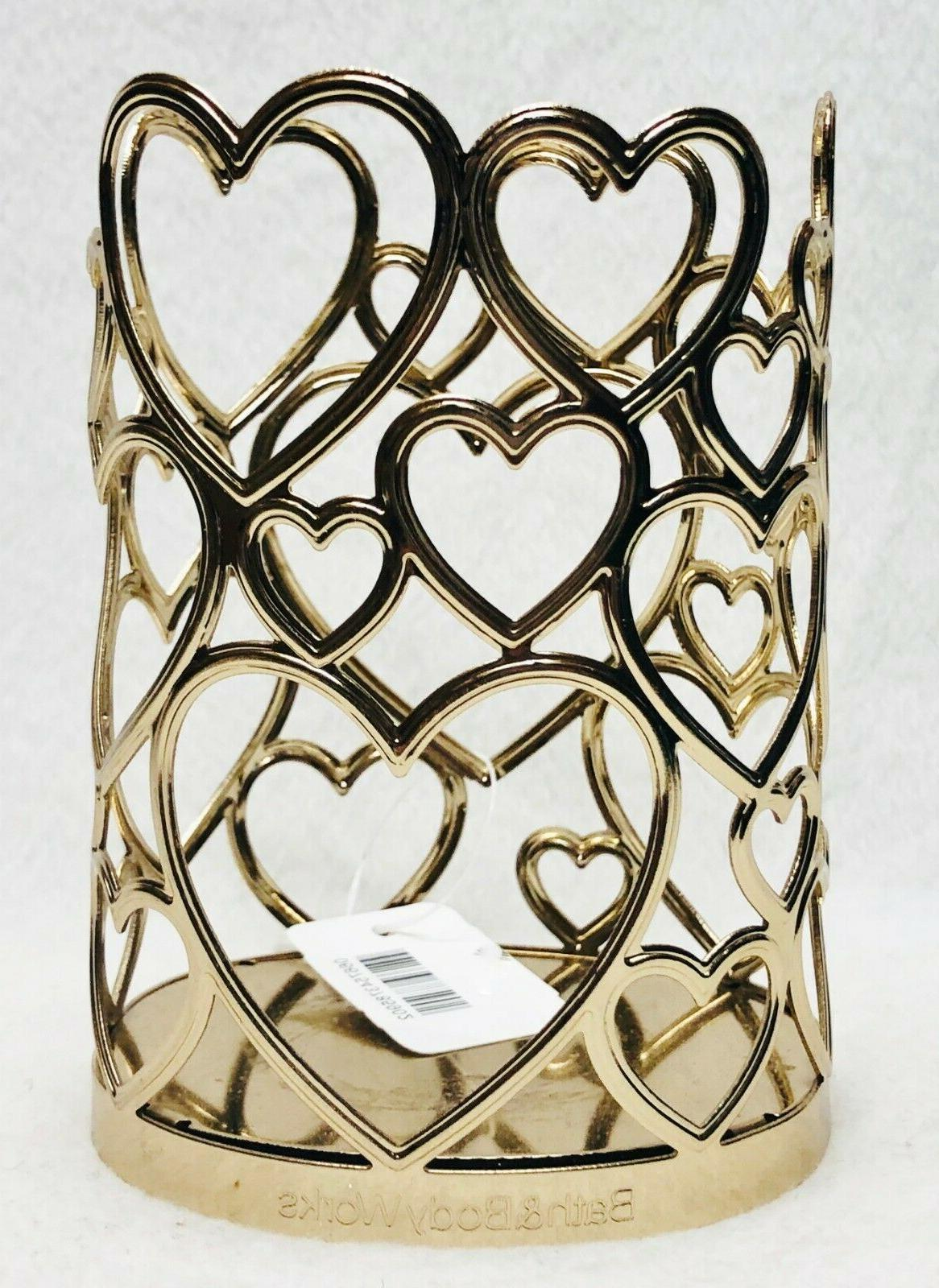 1 bath and body works gold hearts