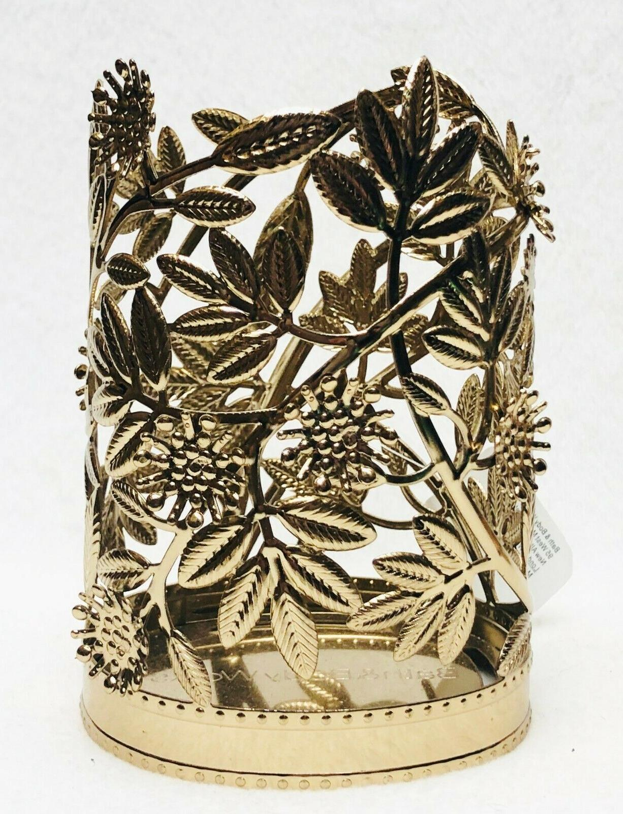 1 bath body works gold leaves blooms