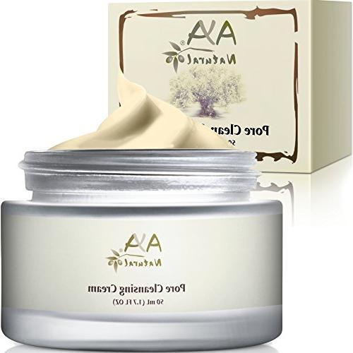 100% Natural Vegan Advanced Pore Cleansing Facial Cream for
