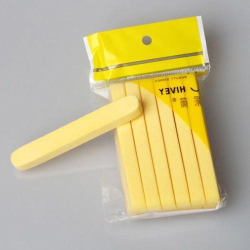 12PCS Cleaning Wash Puff Yellow Stick Foam