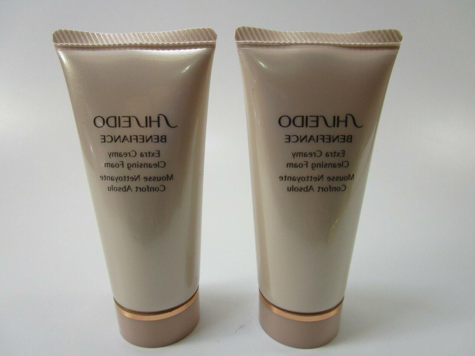 2 shiseido benefiance extra creamy cleansing foam