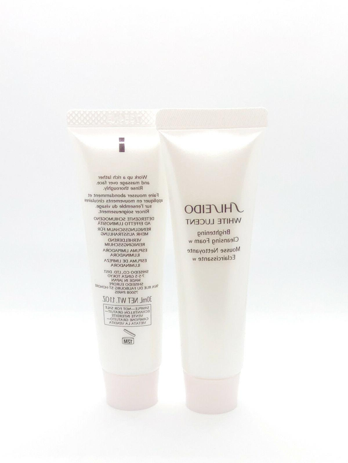 2 x white lucent brightening cleansing foam