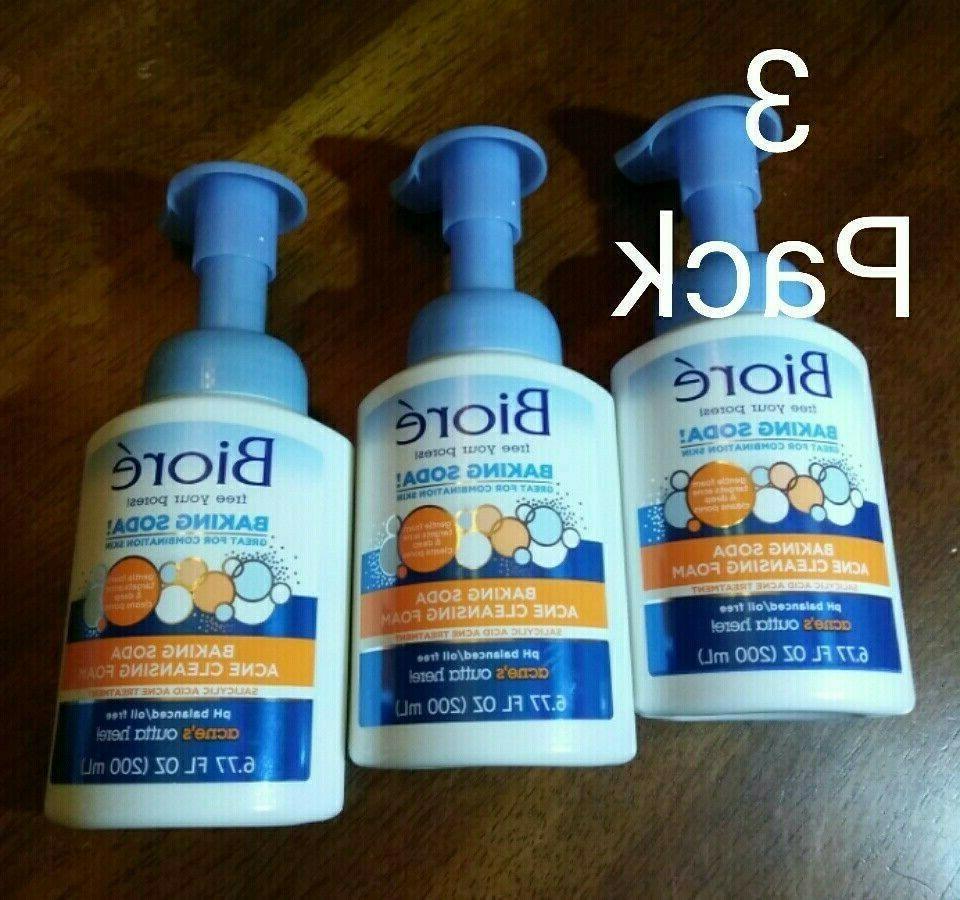 3 pack baking soda acne cleansing foam