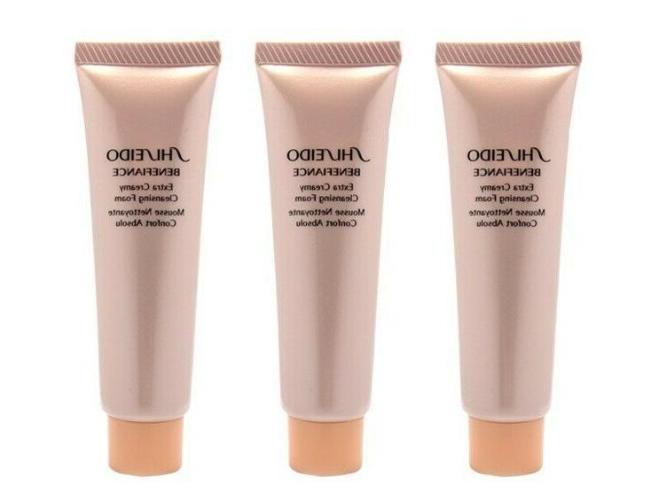 3 x benefiance extra creamy cleansing foam