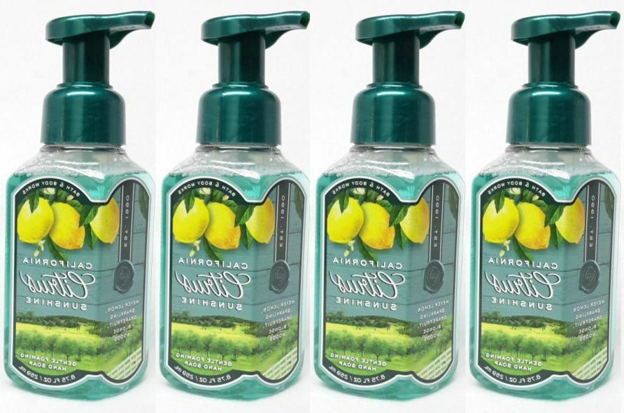 4 bath and body works california citrus