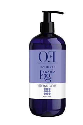 EO Shower Gel, French Lavender, 16-Ounce Bottles