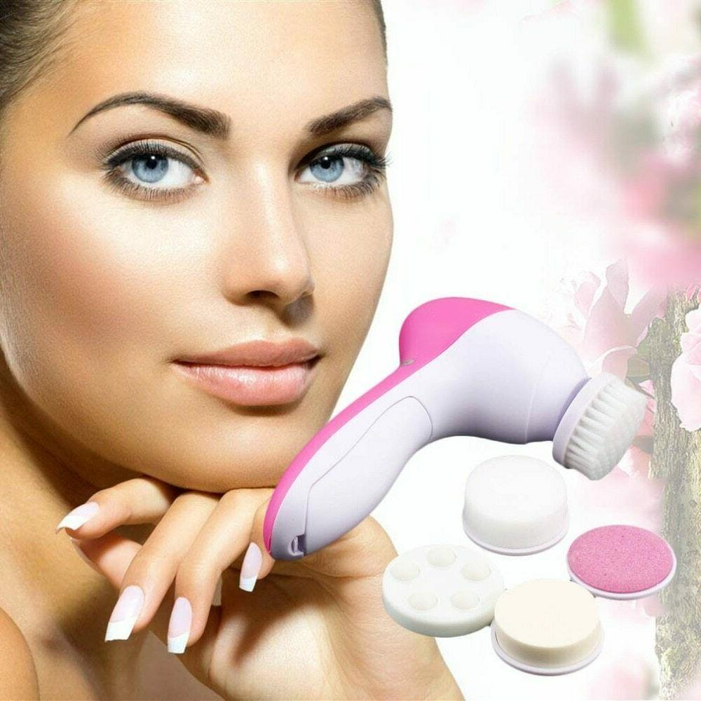 5 in 1 electric face cleansing brush