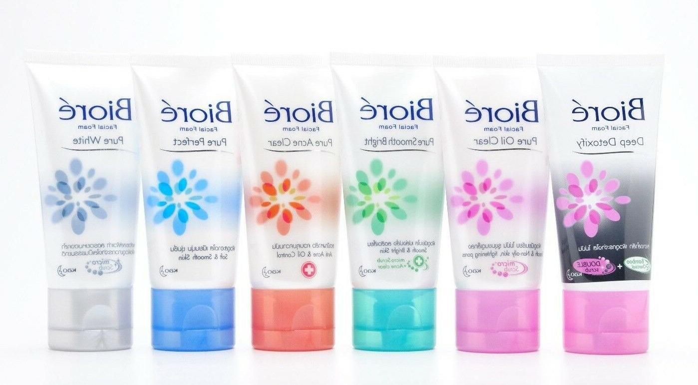 50g biore facial cleansing foam moisturizer whitening