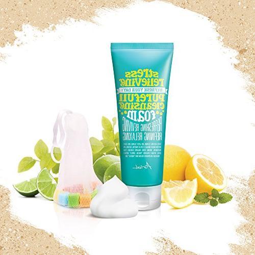 Ariul Wash Cleanser Stress Purefull Foam 5.1oz. Natural Surfactant, Dust Hydrate