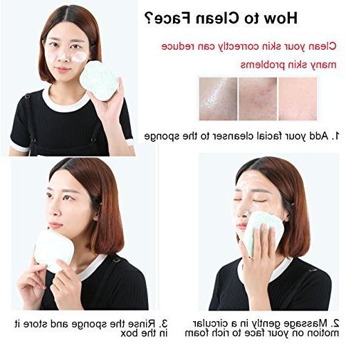Facial Cleansing Sponge, Natural Soft Cleansing Remover Individual Pack