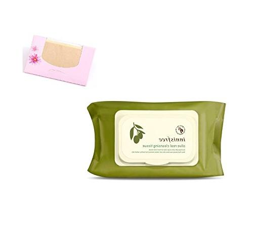 Innisfree Olive Real Cleansing Tissue 80 Sheets + SoltreeBun