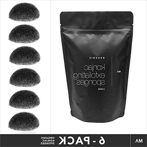 Minamul Konjac Exfoliating Organic Facial Sponge Gentle