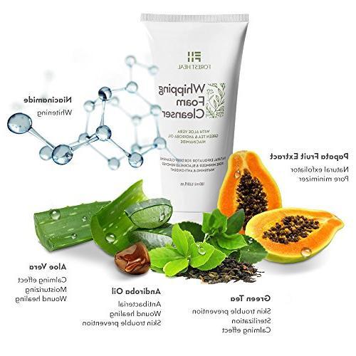 Natural Face - Foaming Cleanser Cleanser Vera, Papaya Green - Natural Antioxidant Cleansing Foam