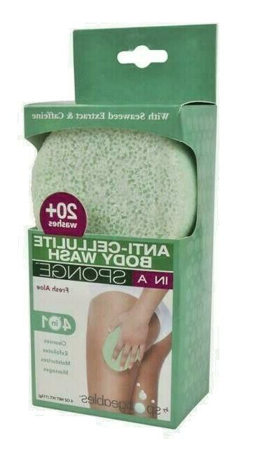 Spongeables Anti-Cellulite Body Wash in a Sponge, Fresh Aloe