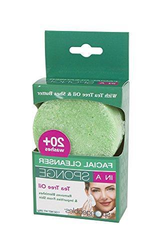Spongeables Facial Sponge, Dual-Texture 20+