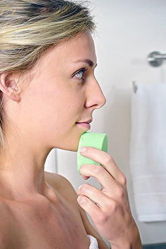 Spongeables Tea Oil Facial Cleanser in Sponge, Dual-Texture Aromatherapy Exfoliating Sponge, 20+