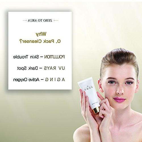 ZEMU O. Facial Foam oz, Made Zealand Zeolite for Sensitive Blackhead Removing Hydrating Daily