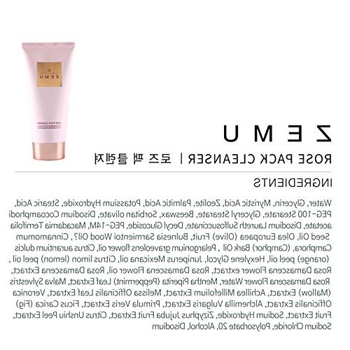 ZEMU Facial Cleansing Foam Made New Zealand Zeolite Pack Mask for Sensitive Blackhead Removing Hydrating Face Wash