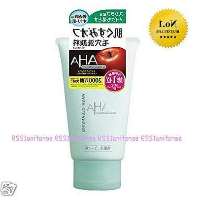 aha exfoliating face wash cleanser
