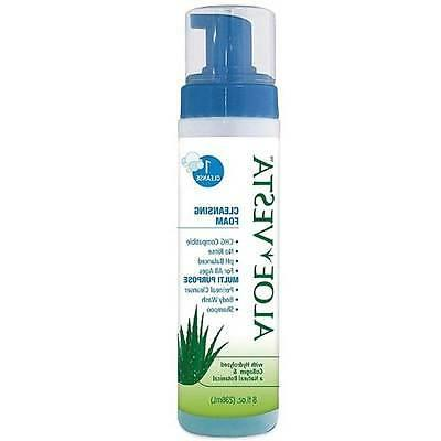 aloe vesta cleansing foam 8oz no rinse