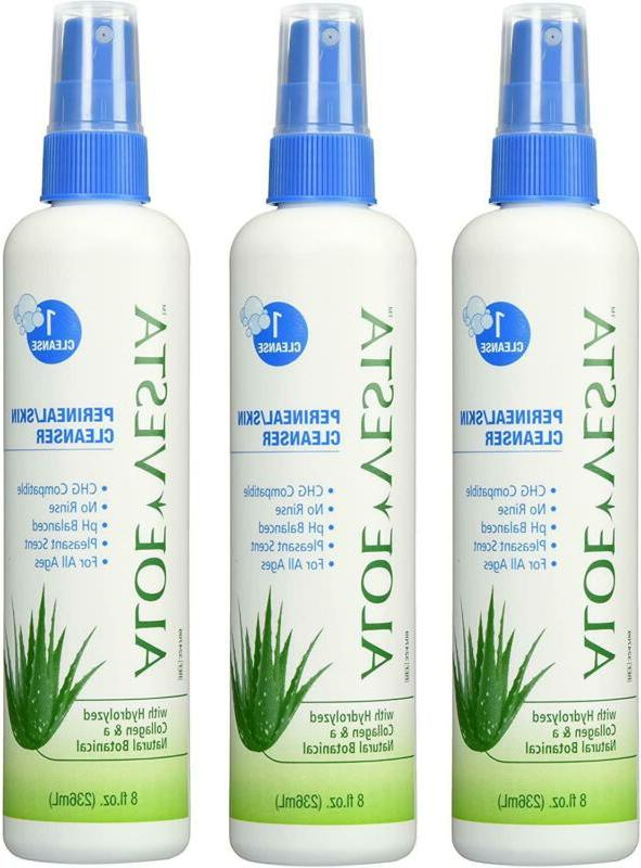 Aloe Vesta Perineal/Skin Cleanser, 8 oz Bottle - Pack of 3