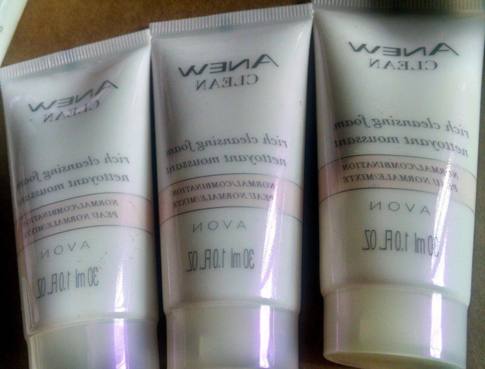 anew rich cleansing foam lot of 3