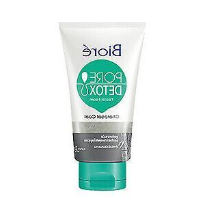 biore pore detox charcoal cool cleansing facial