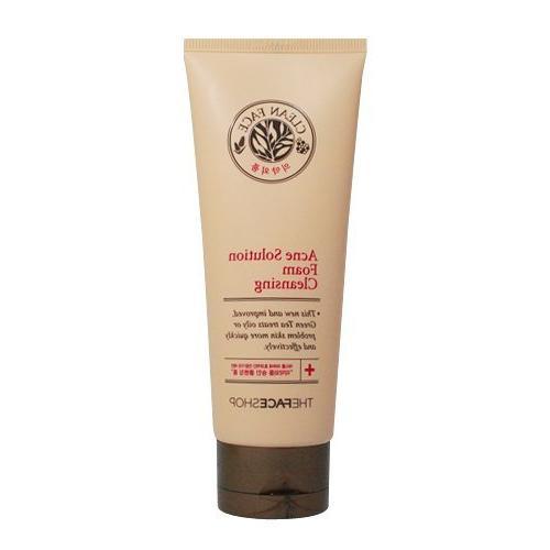 clean acne solution foam cleanser